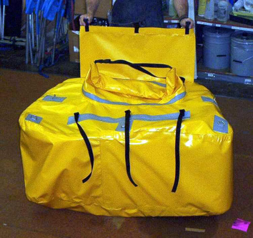 This Waterproof Bag Fits The Entire Back Of An Avon 16 Ft Raft. It Has A  Waterproof Roll Down Closure. This System Fits In A Self Bailer, And Allows  The ...