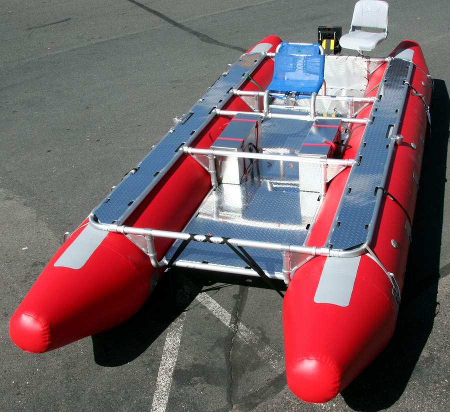 JPW whitewater raft and cataraft Frame Design
