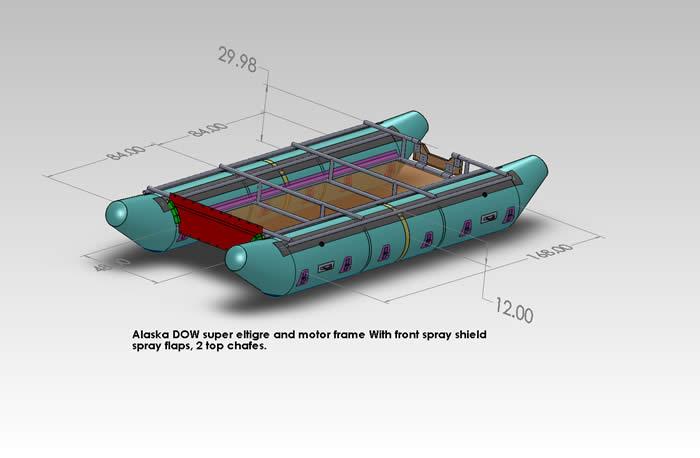 JPW whitewater raft and cataraft Frame Design