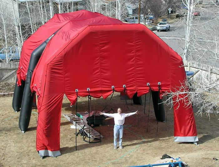 inflatable tent structure as large as a barn & Inflatable tent structures from Jacku0027s Plastic Welding